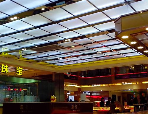 上海七宝珠宝店透光吊顶