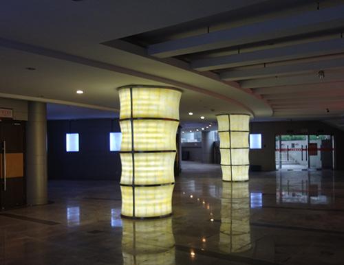 桐乡电影院透光灯柱