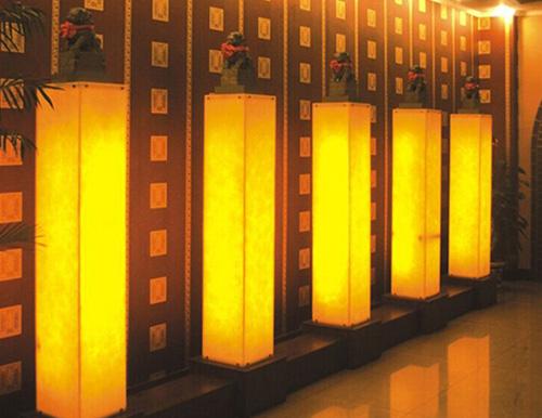 浙江天台森林公园服务大厅透光柱子