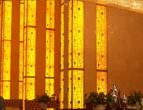 万豪酒店透光石吊顶