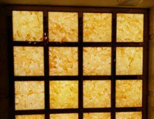 KTV 酒吧专用米黄玉透光石幕墙
