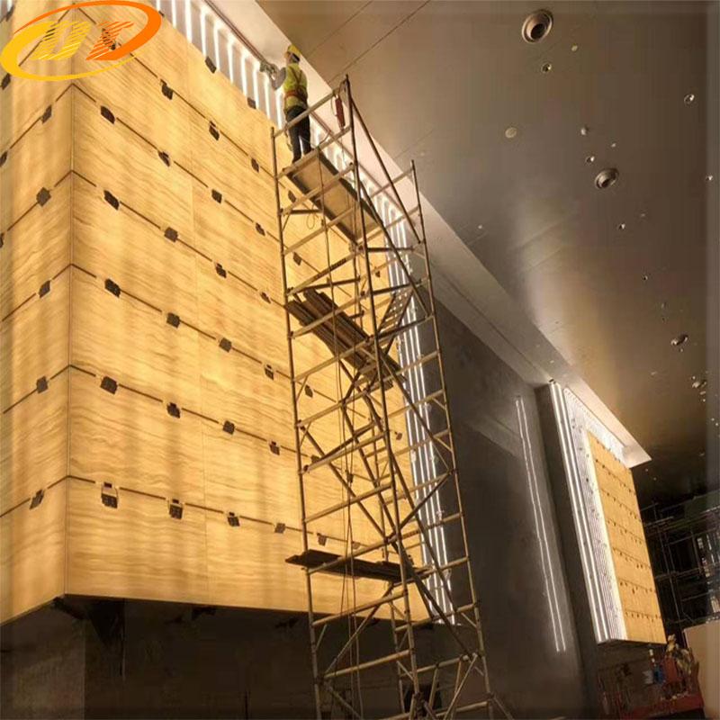贵阳宏益房产项目 大型商场透光石案例