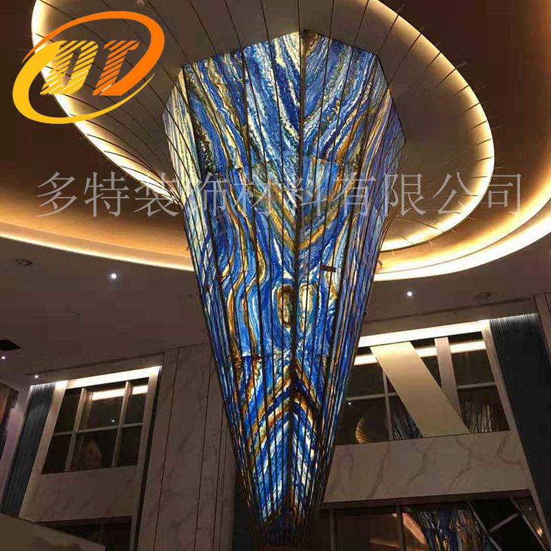 广东售楼部用人造玉石造型 透光造型定制