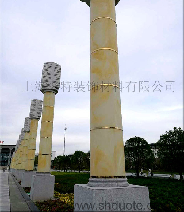 苏州火车站玉石透光灯柱 上海透光板 上海透光石