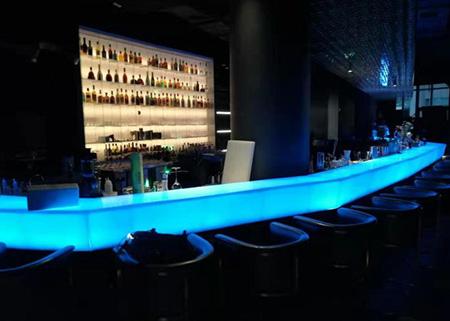 山东酒吧透光吧台